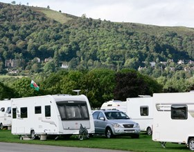 Hills Backdrop Caravan